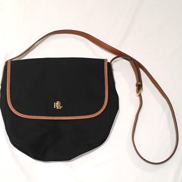 e9089988be Lauren Ralph Lauren Handbags -  Lauren Ralph Lauren  Leather Trimmed Canvas  Bag